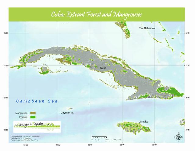 Mapa natural de Cuba